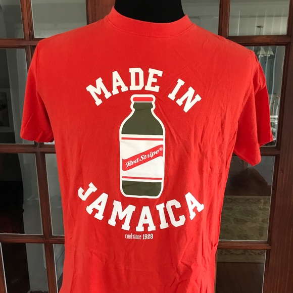 48d8450f53 Red Stripe Clothing Shirts | Made In Jamaica Red Stripe Beer Shirt ...